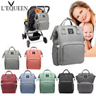 LEQUEEN Mummy Changing Nappy Diaper Bag Large Capacity Baby Bag Travel Backpack