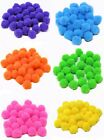 Pom Poms For Craft Red Blue Yellow Orange Purple Green 7 Colours 2 Sizes