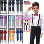 Внешний вид - New Suspender and Bow Tie Sets for Boys Girls Kids Child Children -Ship from USA