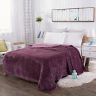 3 Colors Thick Warm Blanket Queen King Size Double Bed Soft Faux Fur Mink Fleece