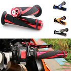 "MOTORCYCLE HAND GRIPS 7/8"" HANDLEBAR BLACK FIT FOR SUZUKI GSX-R600 750 1000 US"