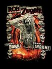 ROB ZOMBIE cd lgo I WAS BORN TO GO INSANE Official SHIRT New electric warlock