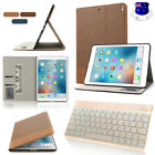 "iPad Pro 10.5"" Leather Case Book Cover + 7 Colors Backlit Bluetooth Keyboard Kit"