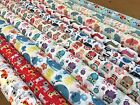 polycotton fabric cats,  dogs, butterfly,whales,owl, nautical