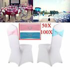 Spandex Stretch Wedding Party Chair Cover Band Sashes With Buckle Bow Slider  OB