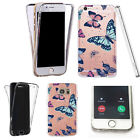 Silicone 360° Full Protection Cover Case For Most Mobiles flutter butterfliesl