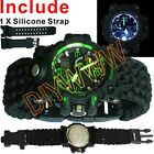 Water-Proof Resistant Survival Wrist Watch Dual Analog-Digital Swimming paracord