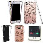 Silicone 360° Full Protection Cover Case For Most Mobiles black outline daisy