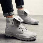 Mens High Top Martin Boot Army Tactical Anti skid Shoes Lace up New Canvas Work