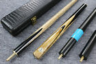 """Grand-Cues"" 3/4 Ash Shaft Black Ebony Handmade Snooker/Pool Cue Set#C02 $129.0 CAD on eBay"