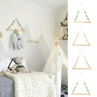 Nordic Style Wooden Clothes Rack Kids Room Wall Hanger Home Decor Wardrobe 351F