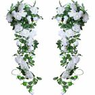 2 X 8Ft Artificial Rose Garland Silk Flower Vine Ivy Wedding Garden String Decor <br/> 💚Free US Fast Shipping💙Party Decor &amp; Amazing Quality