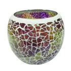 Handmade Glass Mosaic Tea Light Candle Holder Glass Vase For Home Party Q