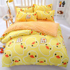 Children Rubber Duck Cartoon Animal BeddingSet PillowCase Sheet Duvet Cover N56