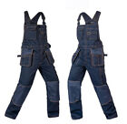 Mens Womens Overalls Bib Suspenders Pants Coveralls Mechanic Jumpsuits Workwear