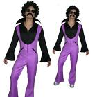 Adult 70s 1970s Pimp Disco Flares Afro Wig Tash Adult Fancy Dress Costume Outfit