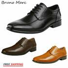 BRUNO MARC NEW YORK DP Mens Formal Modern Lace up Lined Oxford Dress Shoes