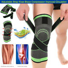 3D Weaving Knee Joint Support Brace Sleeve Breathable Compression Sports Running
