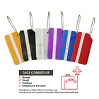 Luggage Tags Metal Durable Waterproof All Colours Bright Suitcase ID Labels UK