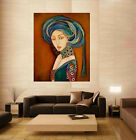 Vintage Roman Lady Canvas Art Painting Home and office Wall Unframed freeship