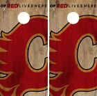 Calgary Flames Cornhole Skin Wrap NHL Hockey Vintage Design Vinyl Decal DR96 $39.99 USD on eBay