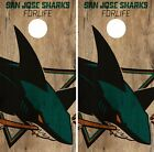 San Jose Sharks Cornhole Skin Wrap NHL Hockey Vintage Design Vinyl Sticker DR108 $39.99 USD on eBay