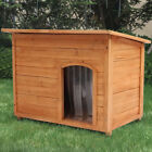 Insulated Dog Kennels S/M/L Sizes Fir Wooden Puppy Kennel House with PVC Curtain