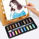 12/18/24 Colors Solid Watercolor Paints Set Pigment Box with Brush Drawing Tool