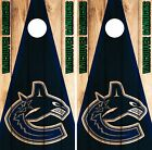 Vancouver Canucks  Cornhole Skin Wrap NHL Hockey Dark Wood Design Vinyl DR111 $39.99 USD on eBay