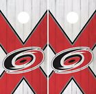 Carolina Hurricanes Cornhole Skin Wrap NHL Hockey Custom Wood Logo Vinyl DR120 $39.99 USD on eBay