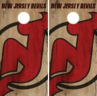 New Jersey Devils Cornhole Skin Wrap NHL Hockey Vintage Art Decor Vinyl DR137 $59.99 USD on eBay