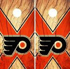 Philadelphia Flyers Cornhole Skin Wrap NHL Hockey Wood Design Decal Vinyl DR148 $39.99 USD on eBay