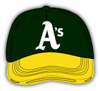 Oakland Athletics MLB Baseball Yellow Cap Car Sticker - 9'', 12'' or 14'' on Ebay