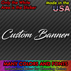 Custom Windshield Text Lettering Vinyl Decal Sticker Banner Sign Car Club Truck
