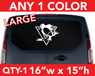 "PITTSBURGH "" PENGUINS ""  WALL AUTO DECAL STICKER 16""w x 15""h ANY 1 COLOR $17.99 USD on eBay"