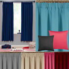 Boys & Girls Bedroom Soft Woven Blackout Pencil Pleat Curtains Dim Out The Light