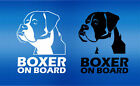 1 x Boxer On Board, Boxer Dog Sticker, Car Window Decal
