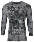 Xtreme Couture by AFFLICTION Men THERMAL T-Shirt SPEED COUTURE Biker MMA Gym $58 image