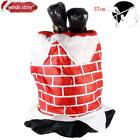 Christmas Decorations Party Elf Santa Chimney Hat Decor Comedy Brick Feet Stuck