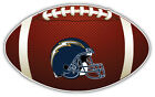 San Diego Chargers Helmet NFL Logo Ball Bumper Sticker Decal -  9'',12'' or 14'' $13.99 USD on eBay