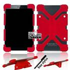 """Bumper Silicone Stand Cover Case For Various 7"""" Toshiba Tablet + Stylus"""