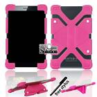 "Bumper Silicone Stand Cover Case For Various 7"" Toshiba Tablet + Stylus"