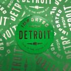 Sticker - Imported From Detroit Circle - Lime Green Chrome