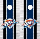 Oklahoma City Thunder Cornhole Skin Wrap NBA Basketball Team Colors Vinyl DR312 on eBay