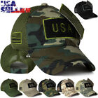 USA American Flag Hat Detachable Baseball Cap Mesh Back Tactical Military Army