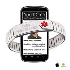 COPD Alert Bracelet Medical ICE SOS Emergency Identity Awareness SMS Phone Acces