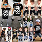 Canis Kids Baby Boys Camo Denim Outfits Tops T-shirt Pants S