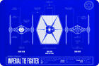 """Star Wars Imperial Tie Fighter blue print Sign 8""""x12"""".040″Aluminum $19.99 CAD on eBay"""