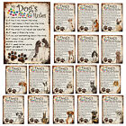 Dog's Rules Metal Sign Funny Pet Breed Plaque Retro Style Decor Gift Shabby Chic