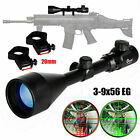 CVLIFE 3-9X56 Rifle Scope Red and Green Mil-dot w 20mm Rail Mount